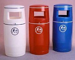 Afvalbak blauw 90l